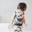 ผ้าซับน้ำลายสามเหลี่ยม ผ้ากันเปื้อนเด็ก [ผืนเล็ก] / Shark thumbnail 2
