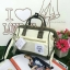 กระเป๋า Anello 2 Way Mini Boston Bag Twotone ขาวเขียว สะพายข้างลำตัว thumbnail 1