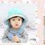 HT459••หมวกเด็ก•• / หมวกปีกกว้าง-bubbles (สีฟ้า) thumbnail 3