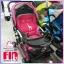 รถเข็นเด็ก fin babies plus สีชมพู ปรับโยกได้ พร้อมมุ้งกันยุง thumbnail 5