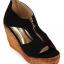 รองเท้าส้นเตารีดไซส์ใหญ่ 40-42 Zipper หนังกลับนิ่ม สีดำ - KR0235 thumbnail 2
