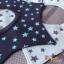 ผ้าซับน้ำลายเด็ก ผ้ากันเปื้อนเด็กเล็ก แบบ 360 องศา ปลายแฉก / ลายดาว (มี 2 สี) thumbnail 1