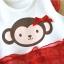 ชุดเดรสบอดี้สูทเด็กหญิง กระโปรงแดง สำหรับเด็กวัย 0-24 เดือน thumbnail 12