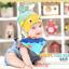 AP131••เซตหมวก+ผ้ากันเปื้อน•• / [สีเหลือง+ฟ้า] ปลา thumbnail 1