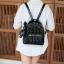 KEEP genuine Leather Mini Chic Backpack Classy Black #ใบนี้หนังแท้เลยค่ะ thumbnail 11