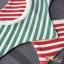 ผ้าซับน้ำลายเด็ก ผ้ากันเปื้อนเด็กเล็ก แบบ 360 องศา ปลายแฉก / ลายขวาง (มี 2 สี) thumbnail 1