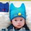 HT263••หมวกเด็ก•• / แมวเหมียว [สีน้ำเงิน] thumbnail 2