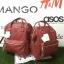 กระเป๋าเป้ Anello polyurethane leather rucksack Red Wine รุ่น Classic thumbnail 7