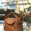 กระเป๋าหนังแท้ ทรงฮิต Lindy 26cm สีน้ำตาล Silver material Coated Leather หนังลูกวัวแท้100% งานคุณภาพไฮเอน thumbnail 13