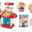 ของเล่นชุดเคาน์เตอร์ครัวมินิ พร้อมอุปกรณ์ทำอาหารสำหรับคุณหนูครบเซต สีแดงสไตล์โมเดิร์น thumbnail 3