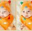 เซตหมวก+ผ้าซับน้ำลาย / ลายแมว (มี 5 สี) thumbnail 13
