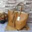กระเป๋า MNG Shopper bag สีน้ำตาล กระเป๋าหนัง เชือกหนังผูกห้วยด้วยพู่เก๋ๆ!! จัดทรงได้ 2 แบบ thumbnail 2