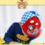 HT519••หมวกเด็ก•• / หมวกเบเร่ต์-ลิงขับเครื่องบิน [สีแดง] thumbnail 3