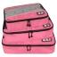ชุดจัดกระเป๋าเดินทางคุณภาพดีมาก 3 ใบต่อชุด ใส่เสื้อ, กางเกง, กระโปรง, ผ้าขนหนู (Ecosusi 3 Set Packing Cubes - Travel Organizers) thumbnail 9