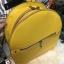 กระเป๋าสะพายเป้ ZARA Sturby Backpack With Zips 2017 สไตล์ PRADA สีเหลือง thumbnail 2