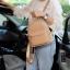 กระเป๋า KEEP Leather Chic Backpack Nude Pink ราคา 1,890 บาท Free Ems #ใบนี้หนังแท้100% thumbnail 7