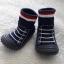 รองเท้าถุงเท้าพื้นยางหัดเดิน ลายรองเท้ากีฬา สีดำ size 19-23 thumbnail 2