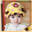 หมวกเด็กปีกกว้าง หมวกซันเดย์ ประดับปอยผม ลายกระต่ายน้อย (มี 3 สี) thumbnail 3