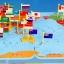 ของเล่นจับคู่ แผนที่โลก+ธงประจำชาติ ขนาด 47*29*0.8 cm thumbnail 3
