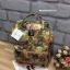 กระเป๋าเป้ Anello x Legato Largo ; Botanical & Cat nylon Cap fasteners Backpack Beige Button thumbnail 2