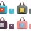 กระเป๋าช้อปปิ้งพับเก็บได้ ผ้าหนา สีสันสดใส ผลิตจากโพลีเอสเตอร์กันน้ำ คุ้มค่า (Street Shopper Bag) thumbnail 22