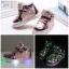 รองเท้าคัชชูเด็กเล็ก สีชมพูเมทัลลิค มีไฟ+เรืองแสงในที่มืด Size 26 - 30 thumbnail 1