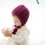 หมวกไหมพรมถักมือ หมวกบีนนี่สำหรับเด็ก สีพื้น (มี 2 สี) thumbnail 4
