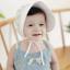 หมวกบอนเน็ตปีกใหญ่ หมวกเด็กผู้หญิงปิดท้ายทอย ลายดอกไม้เล็ก (มี 2 สี) thumbnail 6