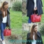 MANGO : ADJUSTABLE TOTE BAG สีแดง ราคา 850 บาท (จัดส่ง ems ฟรีค่ะ) thumbnail 2