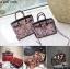 กระเป๋าถือสะพายหนังแท้ สองขนาด ลายงานหนังวัวแท้ สีทูโทน (Leather100%) thumbnail 1