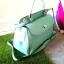 กระเป๋าถือ Mango Tote Bag with turn lock 2015 สีฟ้าน้ำทะเล สดใส thumbnail 13