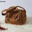 กระเป๋าหนังแท้ ทรงฮิต Lindy 26cm สีน้ำตาล Silver material Coated Leather หนังลูกวัวแท้100% งานคุณภาพไฮเอน thumbnail 5