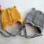 หมวกไหมพรม หมวกบีนนี่สำหรับเด็ก ลายแร็คคูน (มี 2 สี) thumbnail 11