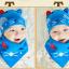 เซตหมวก+ผ้าซับน้ำลาย / ลายแมว (มี 5 สี) thumbnail 8