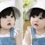 หมวกปีกเด็กหญิง ใส่ได้ 2 ด้าน น่ารักสไตล์เกาหลี thumbnail 8