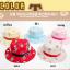 HT496••หมวกเด็ก•• / หมวกปีกกว้าง-บอลลูน (สีฟ้า) thumbnail 6