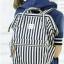 กระเป๋า Anello Casual Fabric Square Shaped Rucksack Stripe Navy blue thumbnail 5