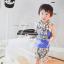 ผ้าซับน้ำลายสามเหลี่ยม ผ้ากันเปื้อนเด็ก [ผืนเล็ก] / Gray Triagle thumbnail 2