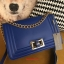 กระเป๋า CHARLES&KEITH CHAIN BAG 2015 Navy Blue thumbnail 3
