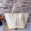กระเป๋า MNG Shopper bag สีขาวครีม กระเป๋าหนัง เชือกหนังผูกห้วยด้วยพู่เก๋ๆ!! จัดทรงได้ 2 แบบ thumbnail 1