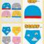 AP184••เซตหมวก+ผ้ากันเปื้อน•• / เมฆ [สีเหลือง] thumbnail 6