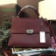 กระเป๋า CHARLES & KEITH PUSHLOCK HANDBAG Burgundy thumbnail 1