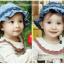 HT167••หมวกเด็ก•• / หมวกถังยีนส์ดอกกุหลาบ (มี 2 สี) thumbnail 2