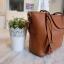 กระเป๋า Amory Leather Everyday Tote Bag สีน้ำตาล กระเป๋าหนังแท้ทั้งใบ 100% thumbnail 4