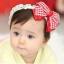 ผ้าคาดผมทารก โบว์แดงขาว สไตล์เกาหลี thumbnail 1