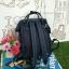 กระเป๋าเป้ Anello The emporium สี กรมท่า (limited edition) ขนาดมินิ กำลังดี วัสดุผ้าแคนวาสสลับหนัง polyester thumbnail 2