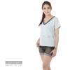 เสื้อให้นม Phrimz : Jasmine Breastfeeding Top - Blue