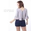 เสื้อให้นม Phrimz : Becky Breastfeeding Top - Light Gray สีเทาอ่อน