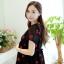 ชุดคลุมท้อง ผ้าชีฟอง ลายลิปสติกแดง มีซับใน เชือกผูกหลังแบบน่ารัก M,L,XL thumbnail 3