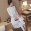 ชุดคลุมท้องแขนยาว ลายนูน ผ้านุ่มหนา ด้านล่างเป็นผ้าลูกไม้ มีซับใน ทรงน่ารัก M,L,XL thumbnail 1